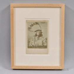 "Framed Painting or Photograph of Chief ""Gall,"""